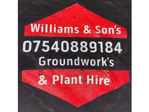 Williams & Son's groundwork's & Plant Hire