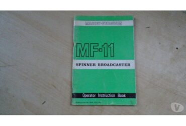 massey ferguson tractor mf11 spinner broadcaster instruction book