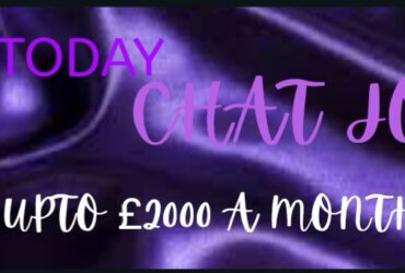 Start Earning Today up to £2000 a month.