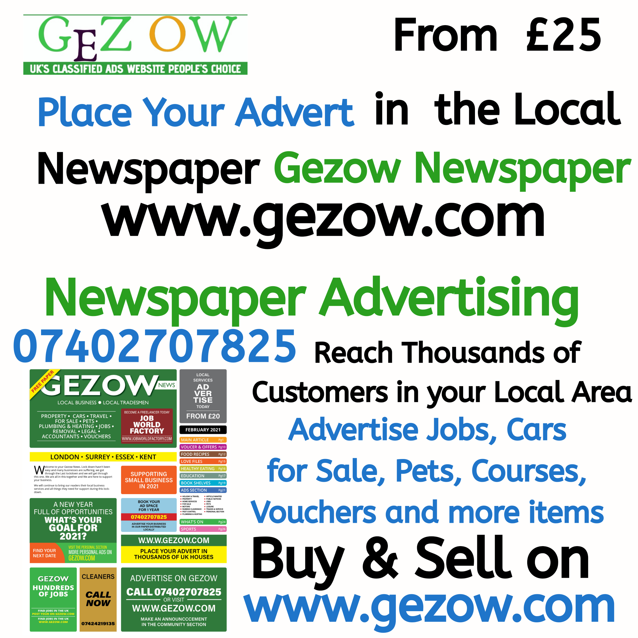 Gezow compares Other Newspapers – NEWSPAPER ADVERTISING COSTS