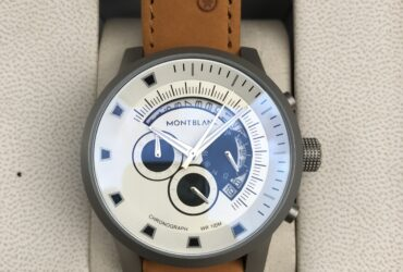 MontBlanc WR 100M Chronograph White Dial Watch