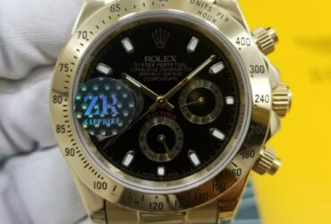 Rolex Oyster Perpetual Cosmograph Daytona Yellow Gold Black Dail Watch