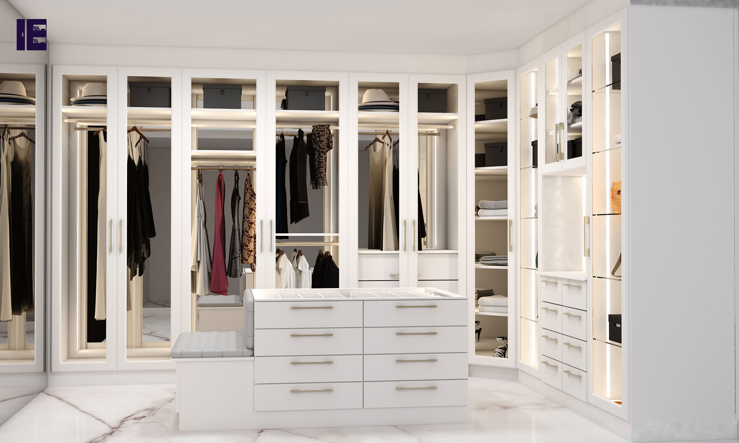 Wardrobes with Glass Doors   Fitted Mirrored Wardrobes   Glass Fitted Wardrobes   Inspired Elements