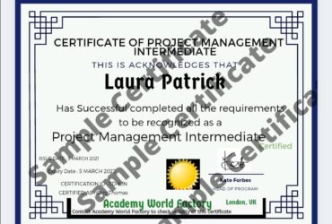 Project Management (Short course) 1day online certificate