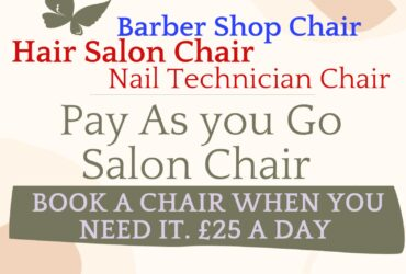 Barber chairs, Hairdresser chairs and Nail technician chair for £25 a day