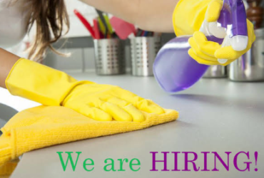 Domestic cleaners needed. Full-time/part-time